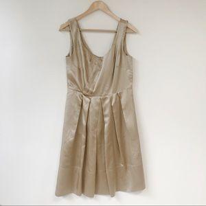 Banana Republic Gold Silk Dress